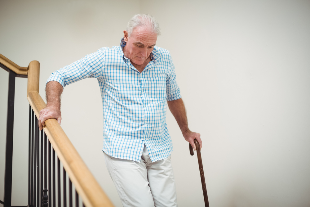 Helping Seniors To Not Slip And Fall On The Stairs