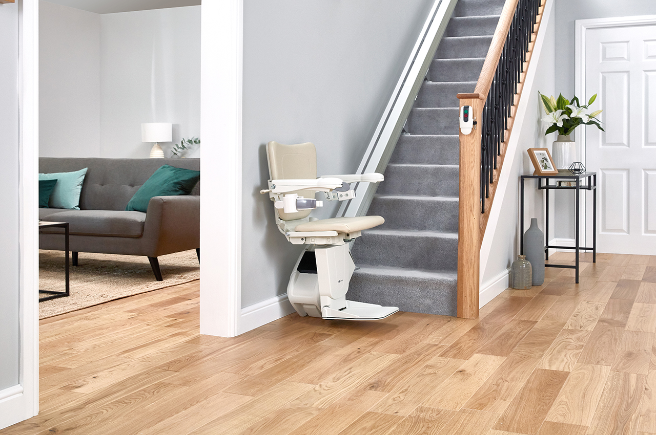 The Handicare 1100 Straight Stair Lift Makes Your Home Safer